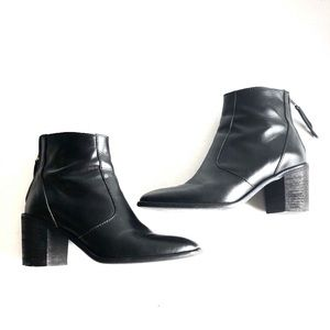 MADEWELL AMES BLACK LEATHER BOOTIES SIZE 7.5